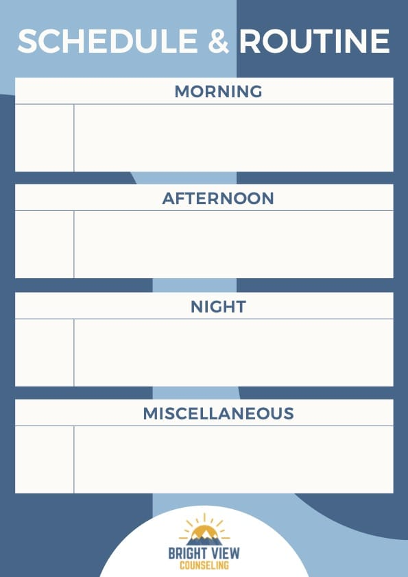 Schedule and Routines